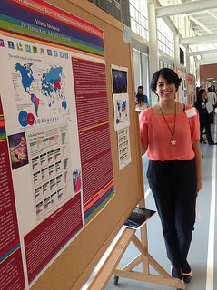 Valeria Mendoza at Adelphi University's Research Conference