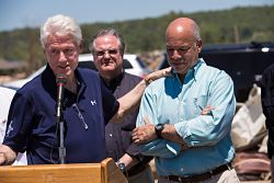 Former President, Bill Clinton and DHS Sec. Johnson discuss Arkansas disaster relief.