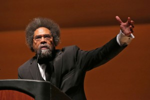Cornel West, Ph.D. at the Freedom & Social Justice event, as part of the Changing Nature of War and Peace initiative.