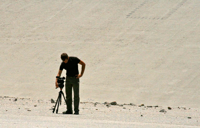 Assistant Professor John Drew at work on the U.S.– Mexican border.
