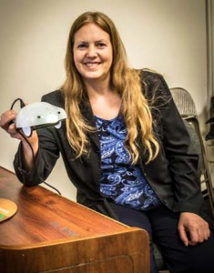 Prof. Kristin Pepper introduces Finch—a robot the size of your hand that looks like a stingray