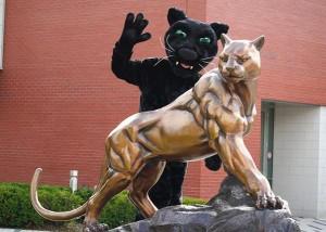 Adelphi Panther Mascot