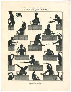 Gustav Mahler silhouette-Otto Böhler