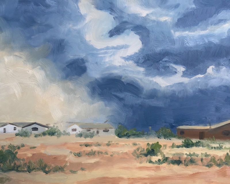 Sand Storm and Ranchers by Kellyann Monaghan