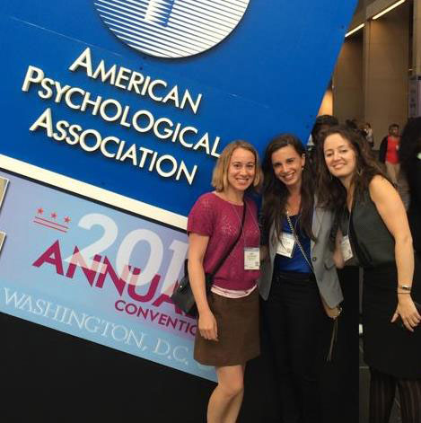 Third-Year Students Laura Eidlitz M.A., Kirby Weinberg M.A., and Aleksandra Goncharova M.A. (from left to right) at this year's Annual American Psychological Association Convention in Washington, DC
