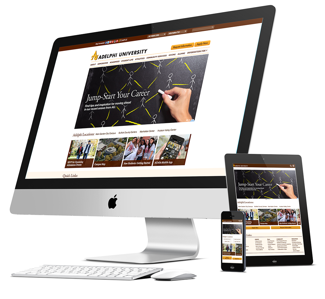 Responsive Adelphi University Website