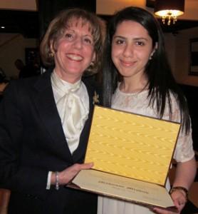 Professor Regina Axelrod with Mahnoor Misbah