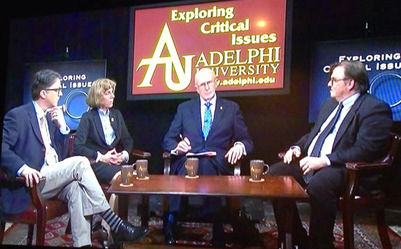 "Professor Axelrod was a panelist on the episode ""Threats of War and Challenges of Peace,"" part of Adelphi president Robert Scott's T.V. program, ""Exploring Critical Issues."""