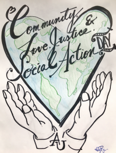 Community, Love, Justice, and Social Action Day Student Artwork