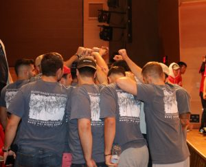 Men in a fraternity